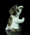 """Playing cat"",  Theodor Kärner, Rosenthal, circa 1969,  antiques Warsaw, old porcelain, porcelain figurines"