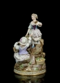 """Group scene"", Meissen, 19th century"