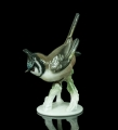 """The European crested tit"", Haubenmeise, Rosenthal, after 1957,  antiques Warsaw, old porcelain, porcelain figurines"