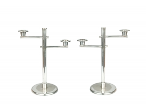 Pair of Art Deco Candlesticks, 1930s