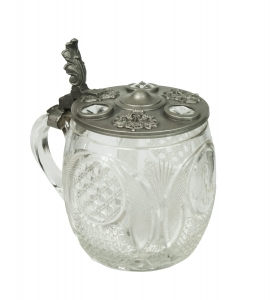 Beer mug with coin, Czech Republic, 1930s