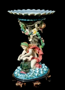 Jardiniere,  Hugo Lonitz & Co, Neuhaldensleben, Germany, 1880