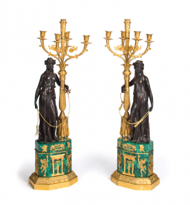 Pair of candelabras, France, 19th century