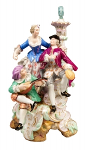 """Group scene"" Michel-Victor Acier, Meissen, 19th century"