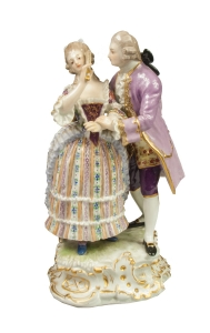 """Couple"", August Ringler, Meissen, 19th century"