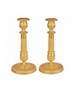 Pair of candlestick, The Łopieński Brothers , Warsaw, 19th/XXth century