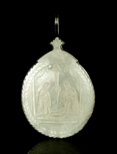 "Medallion ""The birth of Jesus"" , Bethlehem, circa 1850"