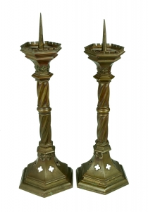 Neogothic candlesticks, Central Europe, 19th century
