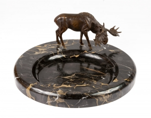 Card holder with moose, early 20th century