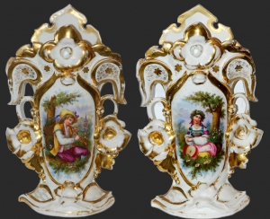 Pair of Vases, Silesia, 19th century