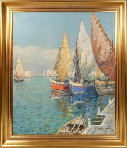 "Rudolf Andree ""In the port"""