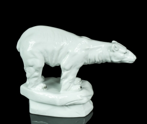 Polar bear, Porzellanfabrik Waldsassen Bareuther & Co., 1920's