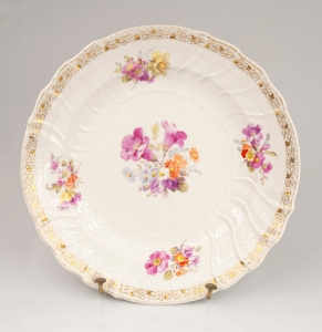 Decorative plate, The Royal Porcelain Factory (KPM), Berlin, 19/20th century