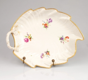 Leaf shaped plate, The Royal Porcelain Factory (KPM), Berlin, late 19th century