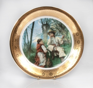 Decorative plate, Wawel, Poland, second half of 20th century