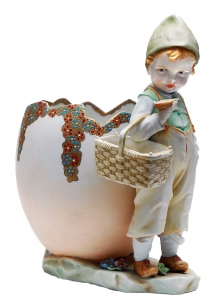 Figurine of Boy with an Egg, circa 1900
