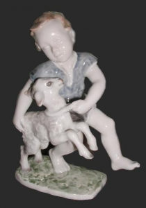 Boy with a Lamb, Rosenthal, circa 1957