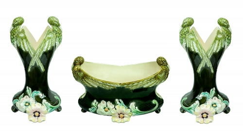 Art nouveau set, Antoine Gustave De Bruyn, France, circa 1900, antiques, old porcelain, antique porcelain, antiques Warsaw,  Galeria Żak
