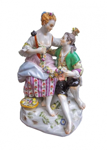 Couple, Meissen, early 20th century, antiques, old porcelain, antique porcelain, antiques Warsaw, Galeria Żak