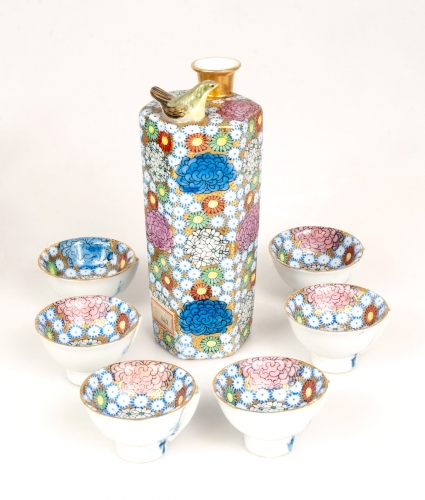 Set for Sake, Japan, 1912-1926, antiques, old porcelain, antique porcelain, antiques Warsaw,  Galeria Żak
